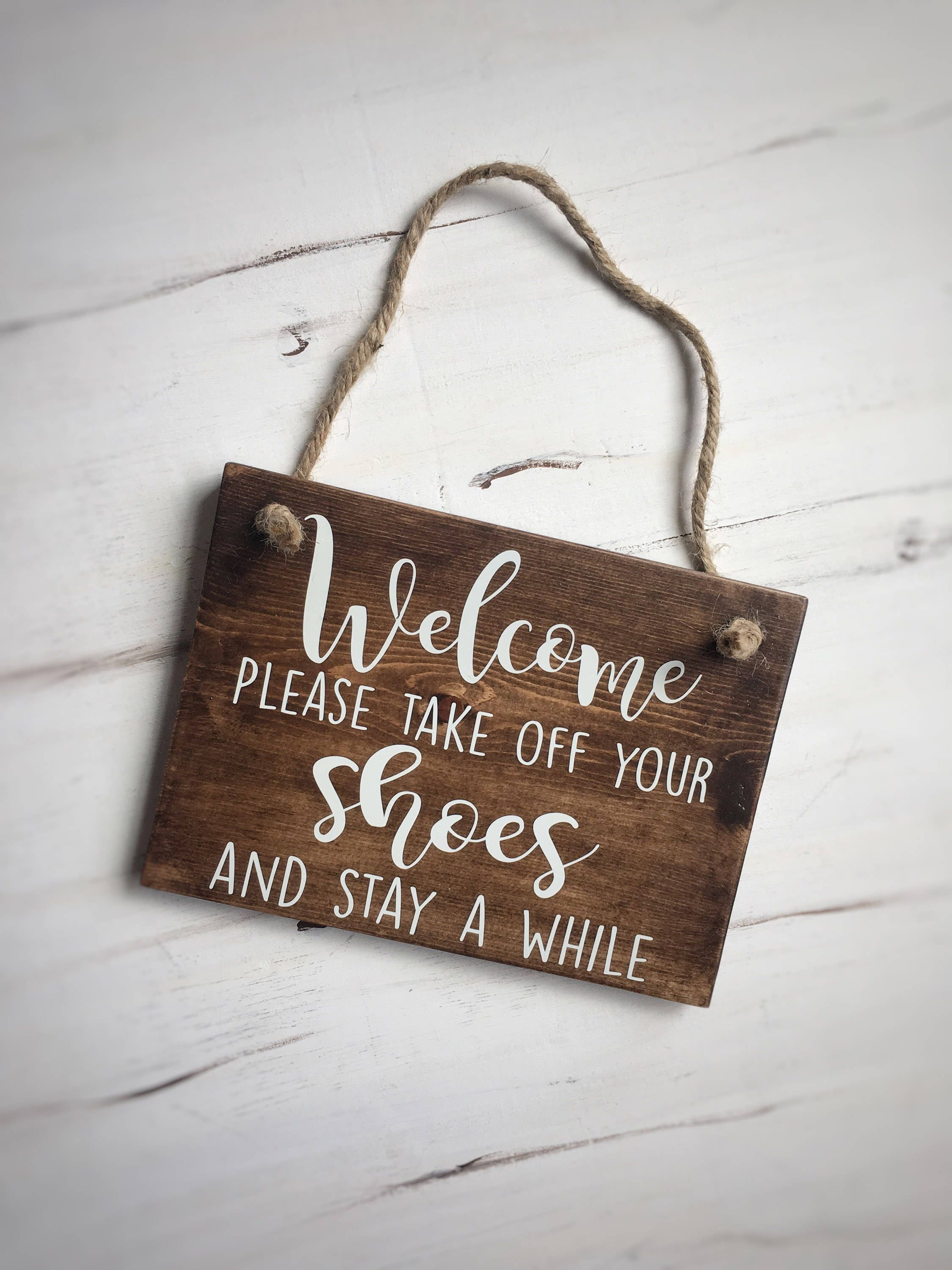 please take off your shoes sign welcome sign outdoor sign. Black Bedroom Furniture Sets. Home Design Ideas