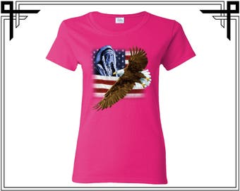 US Flag Eagle T Shirt American Flag Shirt Tees US Flag T Shirt USA Shirt Tees Eagle Women T Shirt Ladies T Shirt Party Shirt Gift For Her