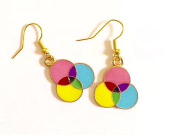 Color Wheel Inspired Earrings