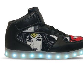 Wonder Woman 2 LED Custom Shoes