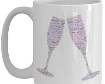Celebrate your Engagement or Wedding With a Champagne Toast!! Cool Coffee Mug for The Happy Couple in Your Life!
