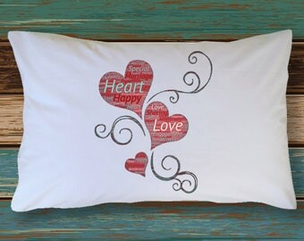 Set of 2 Pillowcases ENGAGED  MARRIED ANNIVERSARY Adorable Honeymoon Wedding Bedding Bridal Shower Wedding Present Bachelorette Party Gift