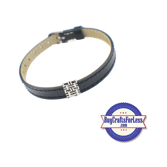 Double HAPPINESS Slide for 8mm Slider Bracelets, Collars, Chokers, Key Rings +FREE Shipping & Discounts*