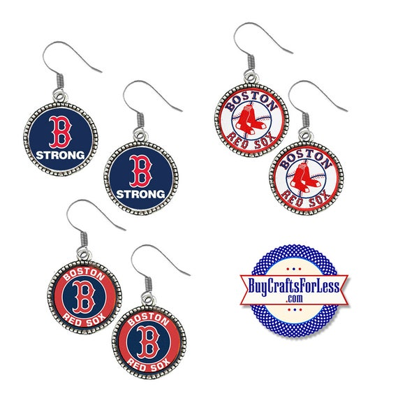 RED SOX Baseball EARRiNGS, CHooSE Logo - Super CUTE!  +FReE SHiPPiNG & Discounts*