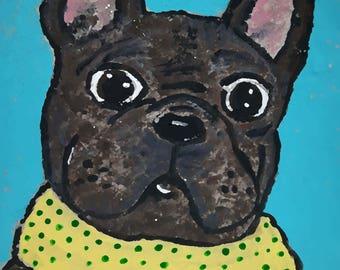 French Bulldog Winter Greeting Card