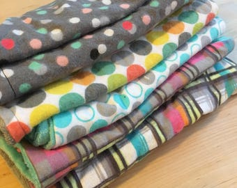 6 cozy burp cloths