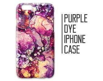 Purple Dye Phone Case for iPhone 7 Plus 6 6s 5 5s 5c +  Purple Marble