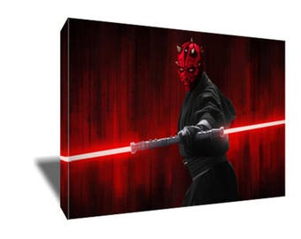 FREE SHIPPING Darth Maul The Phantom Menace Canvas Art