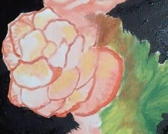 Acrylic on canvas frame flowers listing DROUOT acrylic on canvas