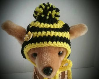 Bumblebee dog hat,Small dog hat, Chihuahua hat + Free Shipping