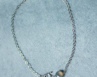 Agate and sterling silver neck Choker