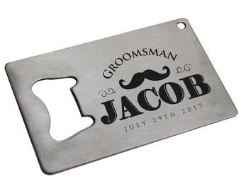 Man Card Bottle Opener - Credit Card Bottle Opener Personalized - Beer Opener Personalized - Groomsmen Man Card - Stainless Steel Man Card