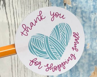 Thank You For Shopping Small Stickers | Small Shop Stickers | Small Business Stickers | Shipping Stickers | Stickers for Makers
