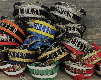 Cheerleading Gift -Cheer Bracelet – Cheer Gift - Cheerleading- Cheer Jewelry- Perfect Gift for Cheerleaders, Cheer Coaches & Cheer Teams