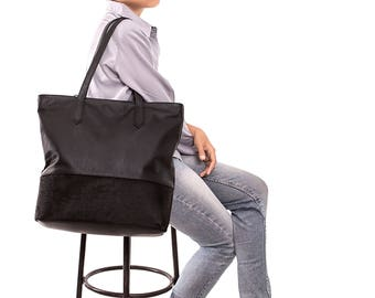 Leather handbag - Black leather handbag - Leather handbags - Womens handbags - Large leather handbag - Everyday handbag - Soft leather bag
