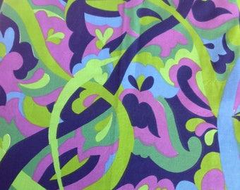 70s pyshecedelic swirl dress fabric 1.1m