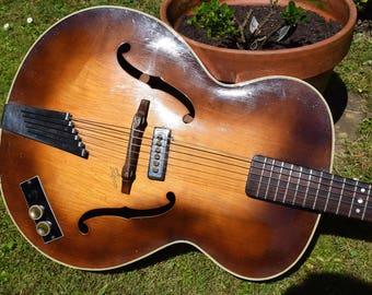 Hofner Archtop,Archtop Guitar,Acoustic guitar,Vintage guitar,Semi Acoustic,Hofner,German,Brunette,electric guitar,Senator,tortoiseshell,gift