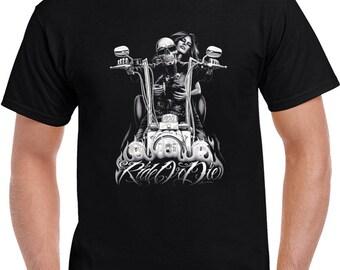 Ride Or Die Motorcycle Tshirt