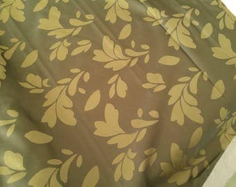 Double green curtain fabrics