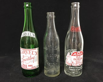 Vintage Marvel's Soda Bottles (3) Ridgely, Maryland