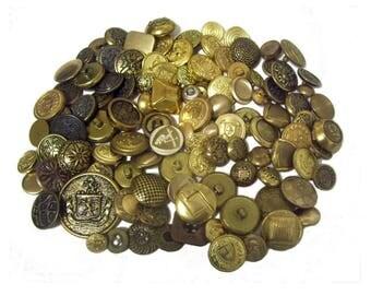 Gold Metal Buttons x 100