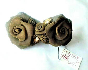 Vintage Lemper Flower Barrette Hair Clip made in France (502988)