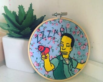 ZZZAP - The Simpsons Floral Embroidery