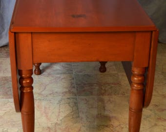 Antique Victorian Cherry Drop Leaf Dining Table