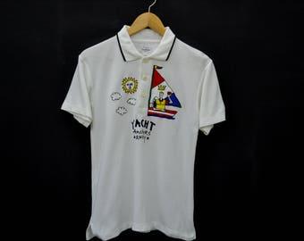 Jean Charles de Castelbajac Vintage Jean Charles de Castelbajac Sports YACHT Polo Tee T Shirt Size 1