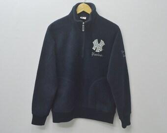 NY Yankees Sweater New York Yankees MLB Fleece NY Yankees  Half Zipper Pullover Jacket Size M