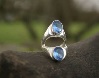 Blue Topaz ring size 55 or 7 US