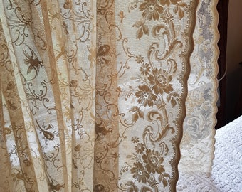 Antique hand made lace canopy/curtain for a crib