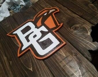 BGSU Ohio Falcons wooden cut out