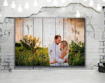 Personalized couple Housewarming Gift Anniversary Gift 5th Anniversary Custom Photo Pallet Pallet Wall Art Rustic Home Decor Picture Frame