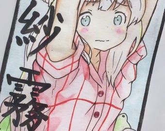 Eromanga sensei - Izumi sagiri watercolour drawing original artwork