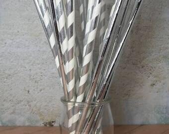 Silver Foil Straws Mix