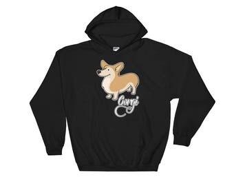 Love Corgi Hooded Sweatshirt Hoodie