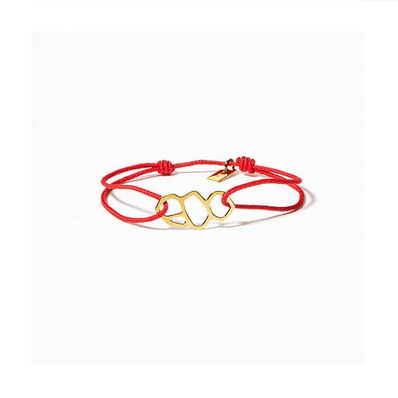 A DAY IN Marseille/Mucem red link bracelet, gold