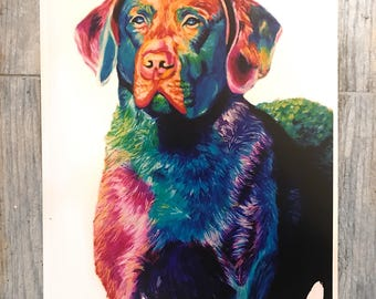 Chesapeake Bay Retriever Print | Retriever Art Print | Chesapeake Bay Retriever Art | Chesapeake Bay Retriever Poster | Colorful Dog Print
