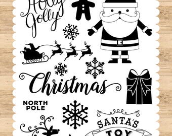 I Love Christmas Holly Jolly Stamp - Echo Park Paper