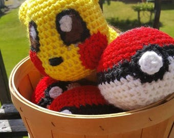 Crochet Plush Pokeball