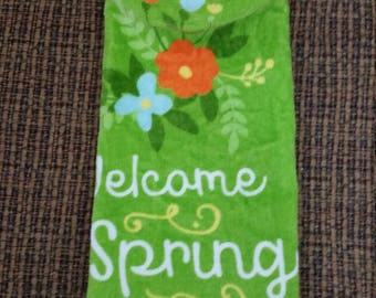 Refrigerator/Kitchen towel Welcome Spring