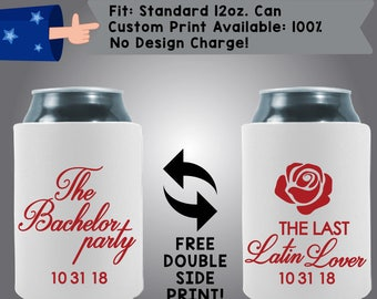 The Bachelor Party Collapsible Neoprene Can Coolers (Etsy-Bach91)