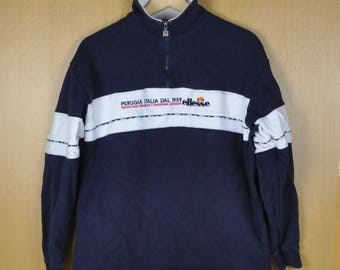 Vintage Sweater Ellesse Perugia Italia Dal Stripe Shirt Men Women Clothing Nice Sweatshirt