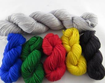 Magic - Hogwarts Unified - Fingering Weight Yarn - Mini skein sets - 225g