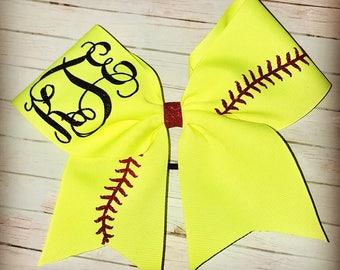 Personalized Softball Bow