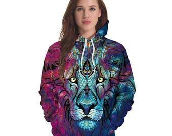 Purple Lion Hoodie