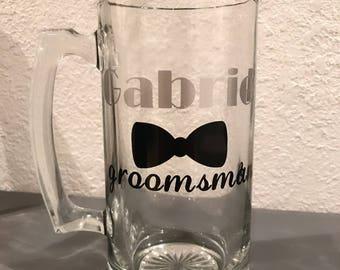 Groomsman/best man wedding beer mug