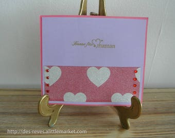 Mother's Day card - heart mother's day.