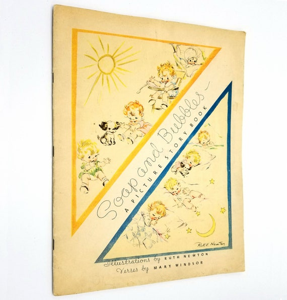 Soap and Bubbles: A Picture Story Book by Mary Windsor 1935 Whitman - Children's Picture Book